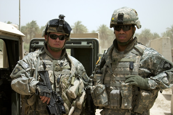 Soldiers in the middle east