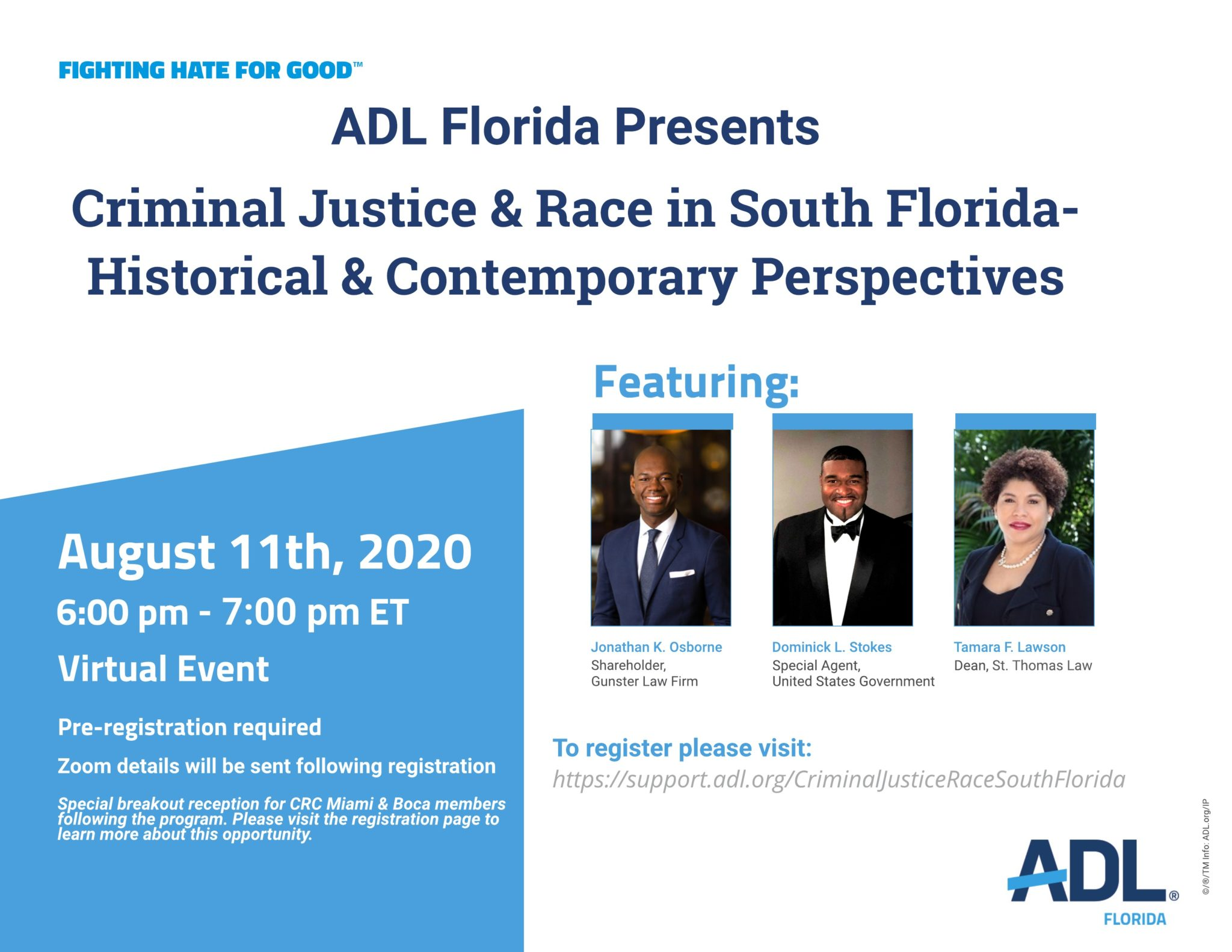 Final Flyer For Criminal Justice And Race In South Florida Webinar August 11