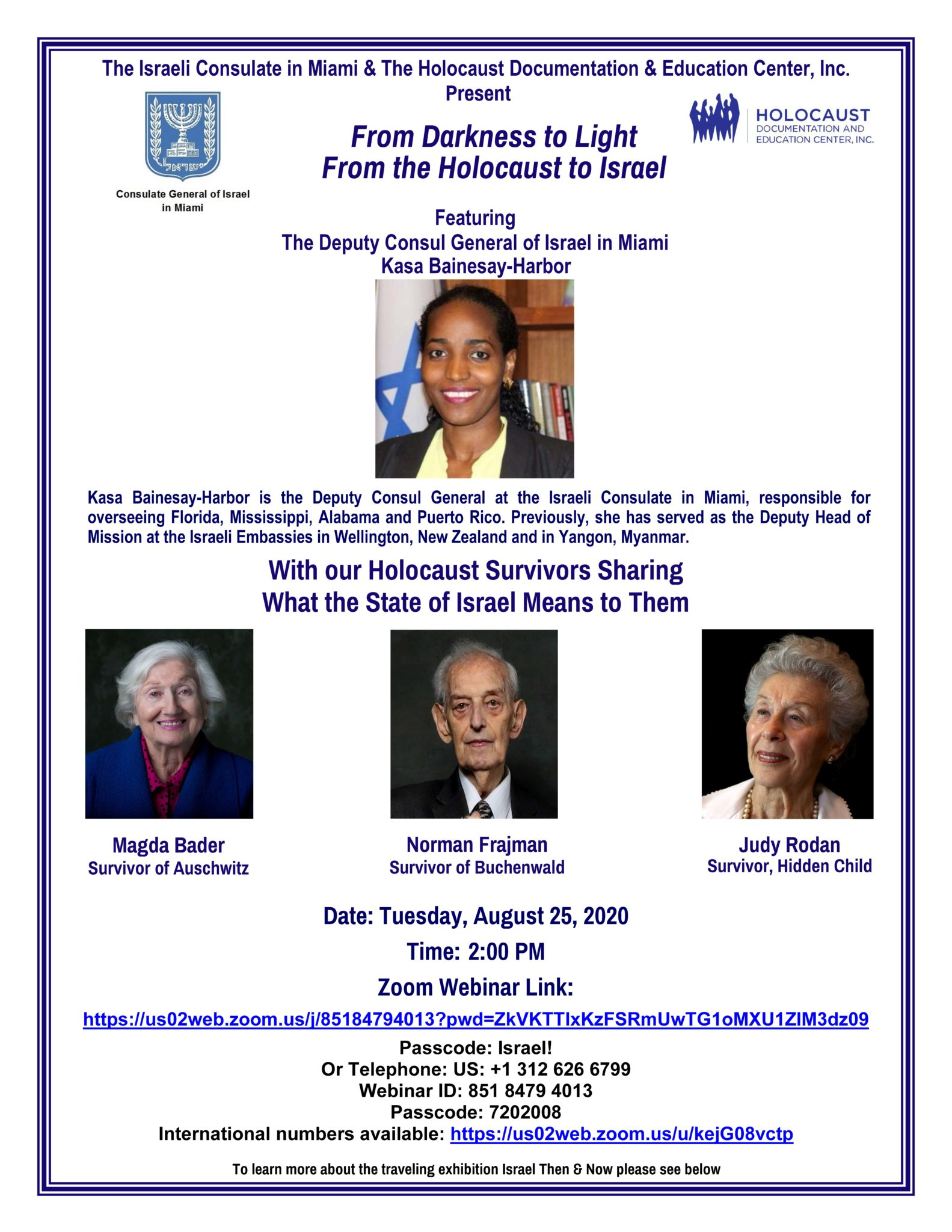 FINAL Invite The Israeli Consulate In Miami And HDEC 08.25.2020 Page 1