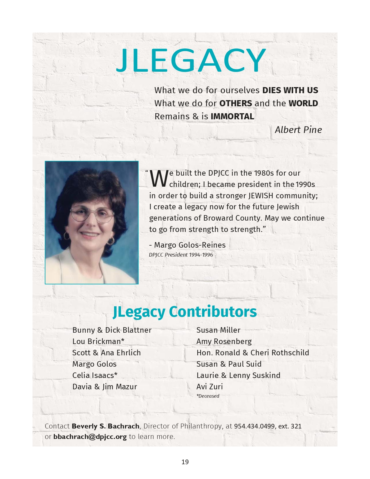 Margo Golos Back Cover Program Guide Page 0001