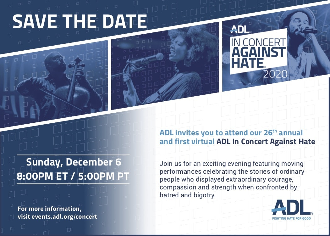 ADL Concert Save The Date