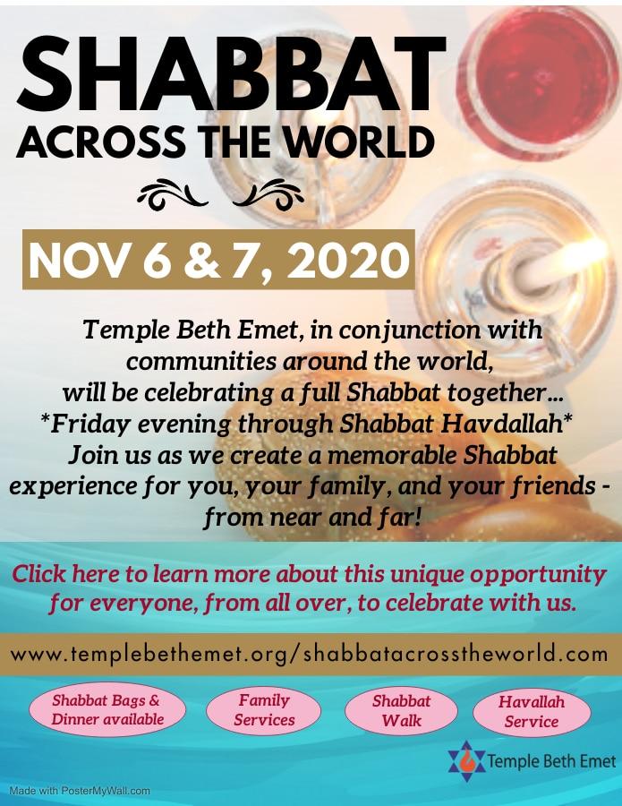 Shabbat Across The World Flyer Flyer Only