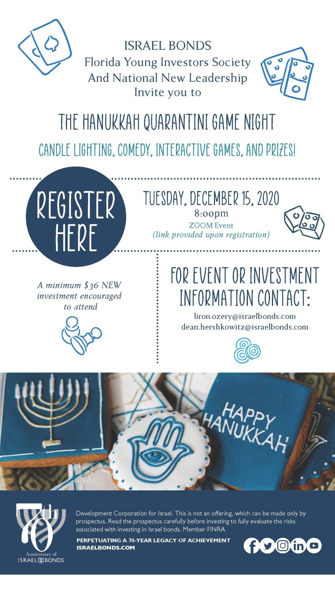 2014 Miami YIS Game Night Hanukkah Evite V2