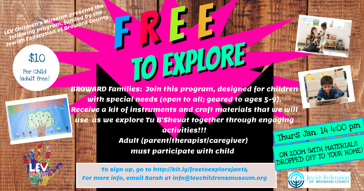 Free To Explore Jan 14 Tu B'Shevat