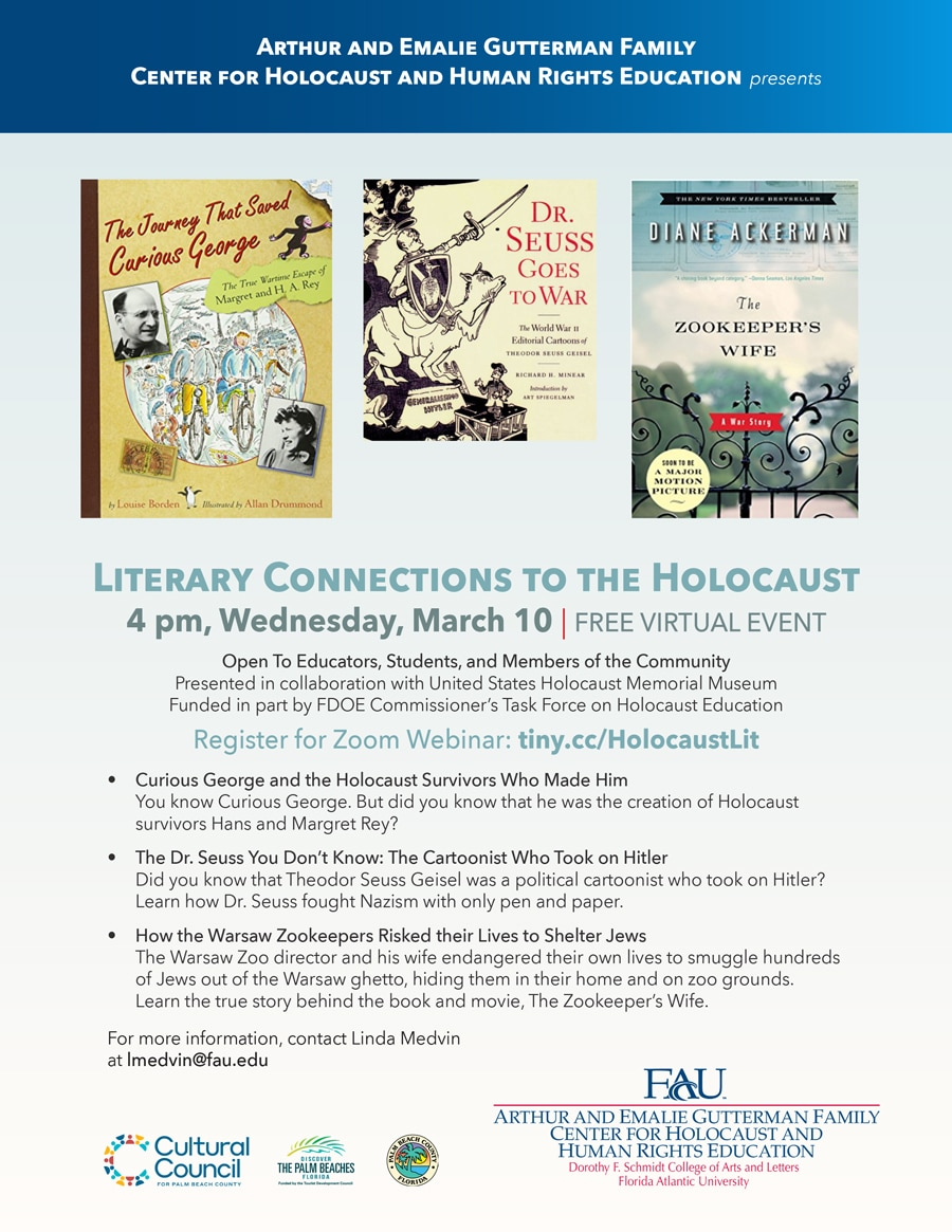Chhre Literary Connections To Holocaust March10