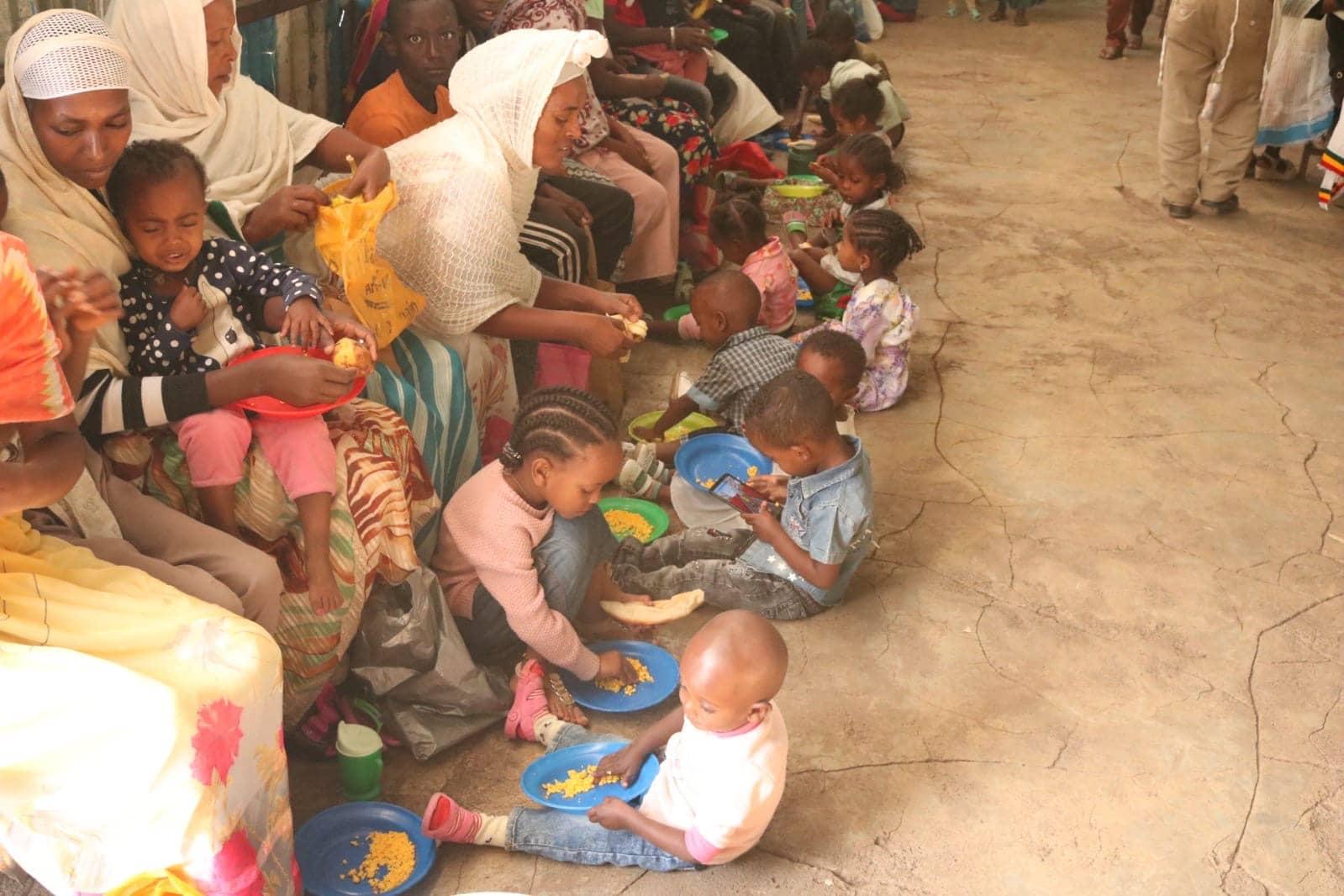 Feeding Ethiopian Babies