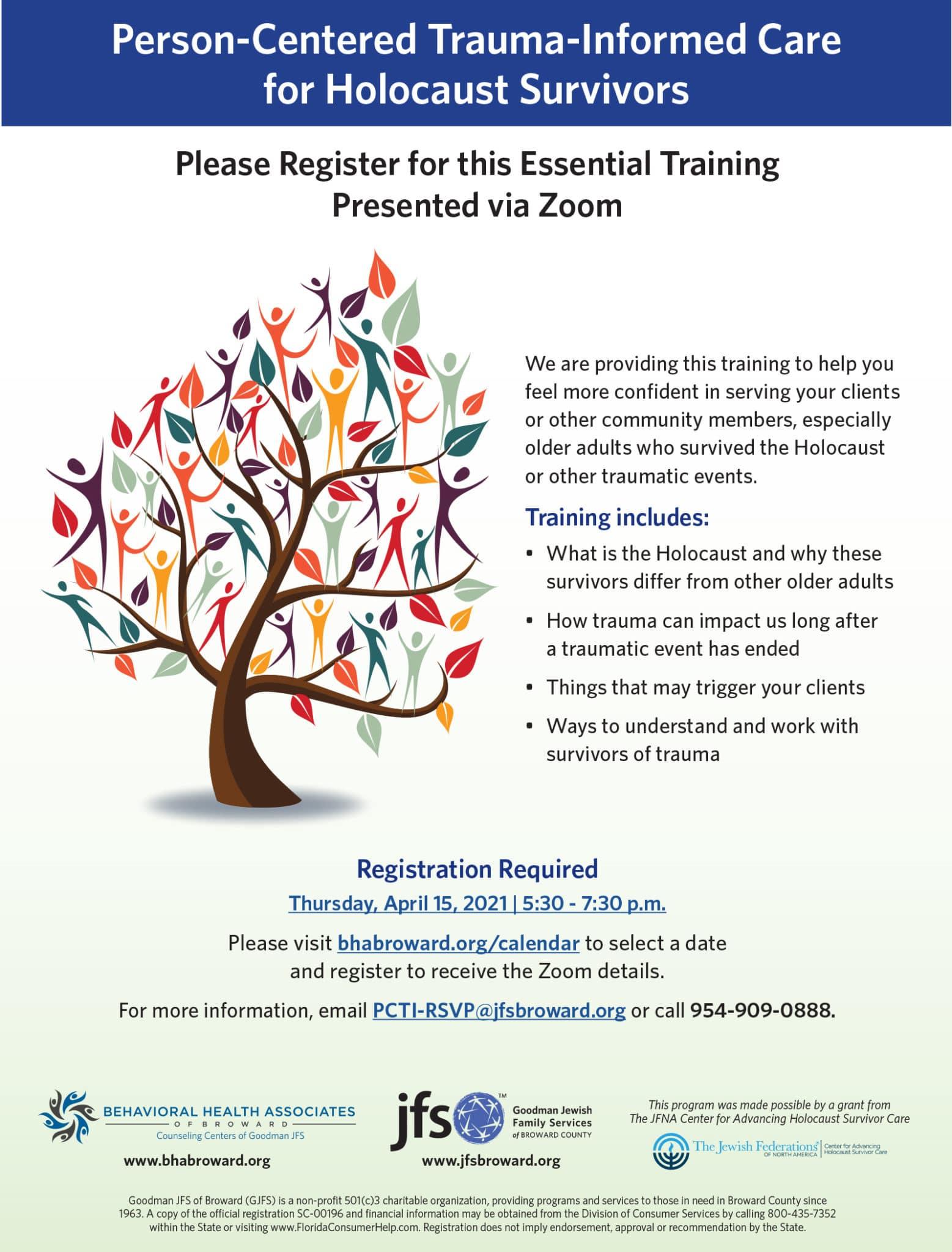 PCTI Community Training Flyer April 15