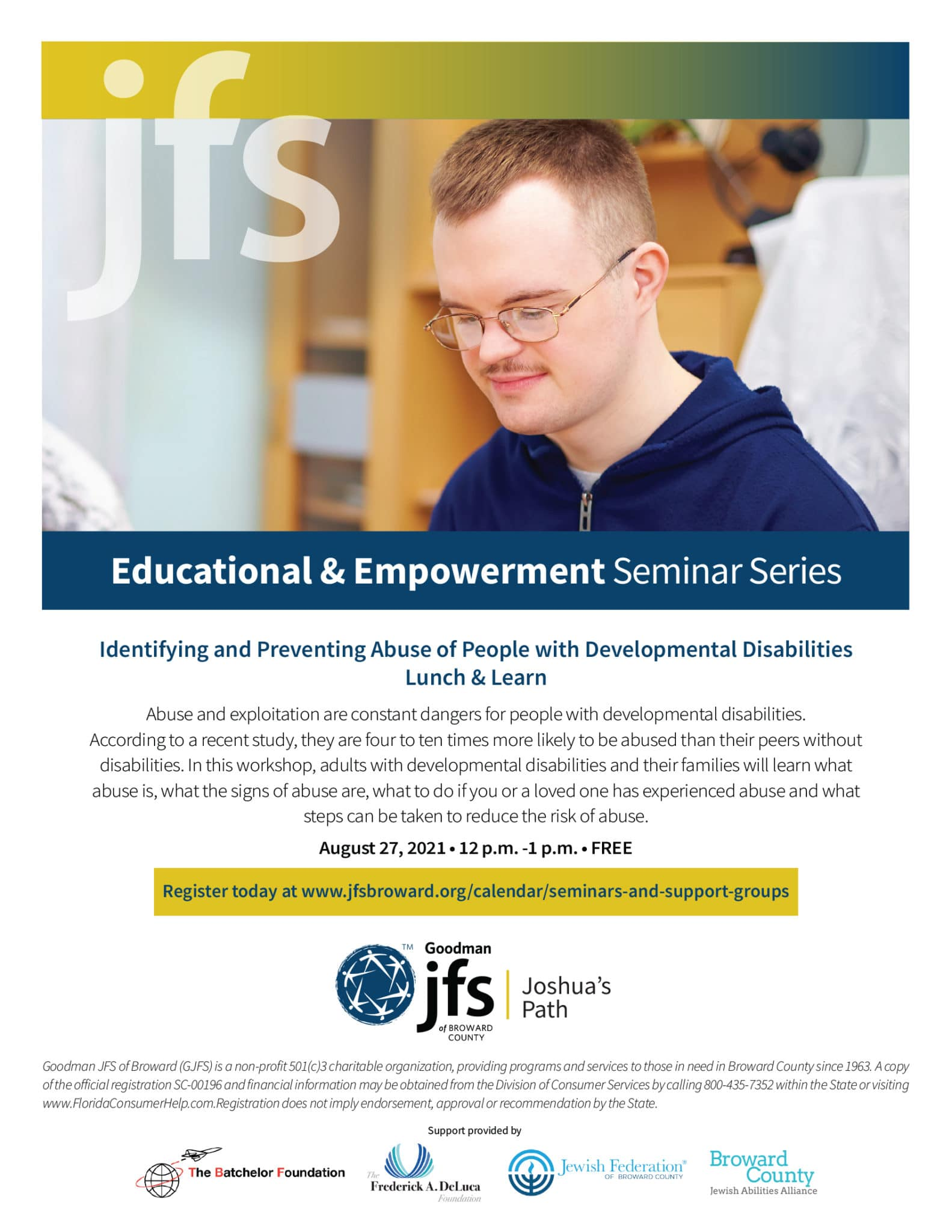 Joshua's Path Seminar Flyer 082721